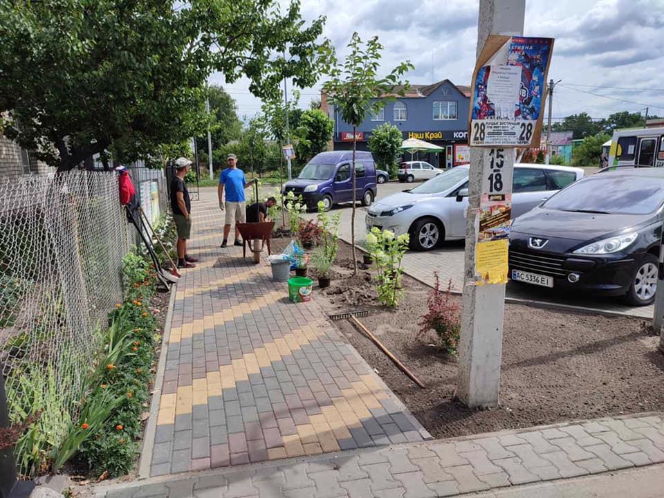 У Ківерцях розпочали роботи із озеленення міста