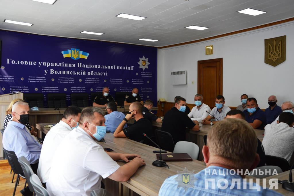 У поліції Волині обговорили співпрацю в рамках проекту «Поліцейський офіцер громади»