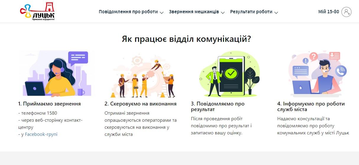 У Луцьку запрацював портал, через який жителі громади зможуть повідомити про проблемні питання