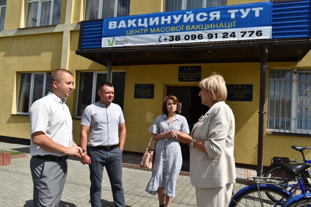 Заступниця Погуляйка проінспектувала стан вакцинальної кампанії на Любомльщині