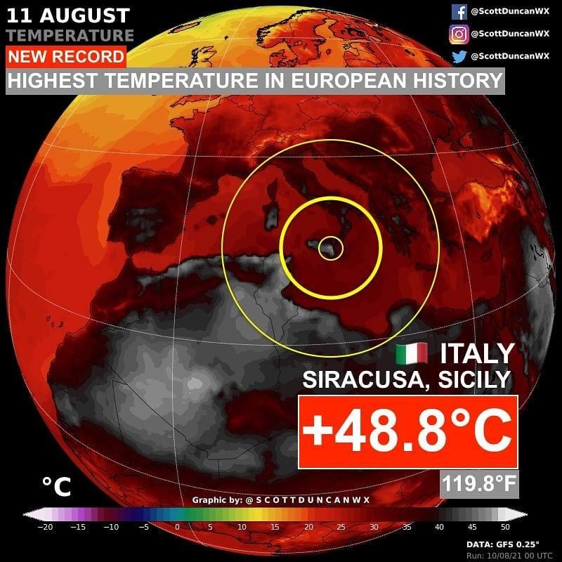 Аномальна спека у Європі побила рекорд, що тримався 44 роки