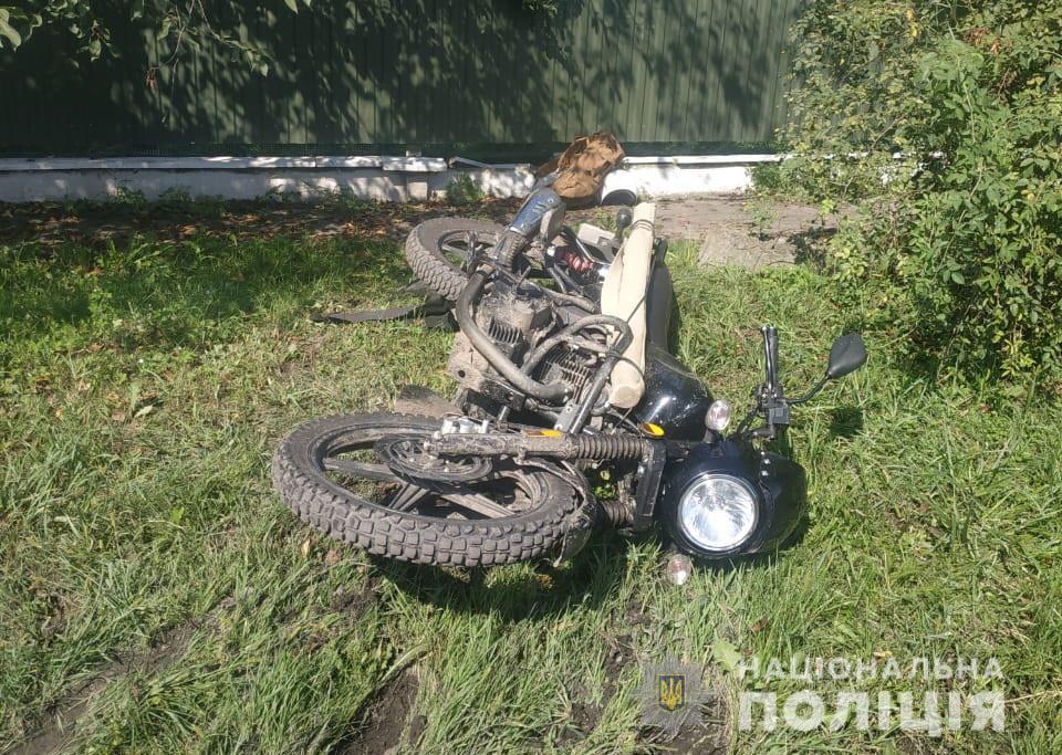 Внаслідок ДТП у Володимир-Волинському районі постраждав мотоцикліст