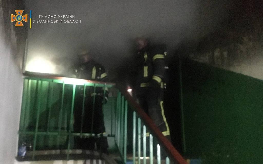 У Нововолинську під час пожежі співробітники ДСНС врятували двох людей