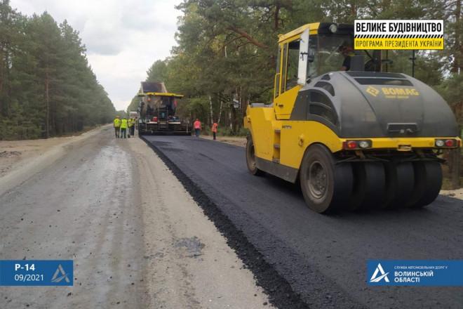 На Волині реконструюють дорогу до кордону із Білоруссю