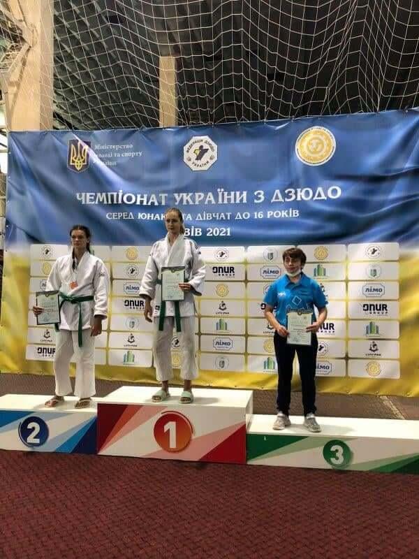 Волинська дзюдоїстка стала чемпіонкою України