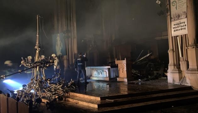 Пожежа у київському костелі: концертний орган згорів дощенту