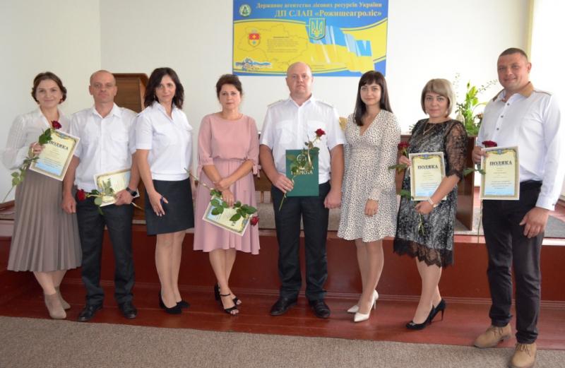 Лісівників Рожищенської громади привітали з професійним святом