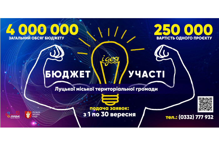 У Луцьку розпочали прийом проектів на конкурс Бюджету участі