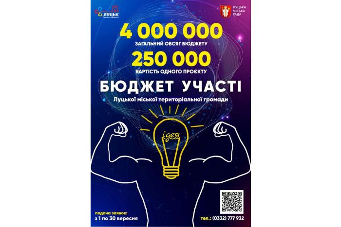 Лишилося 10 днів: лучан закликають подавати проекти на конкурс Бюджету участі