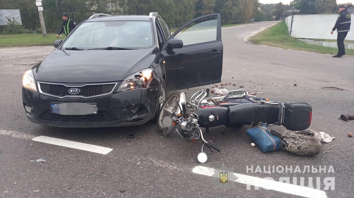 У дорожньо-транспортних пригодах на Волині травмувалися мотоцикліст та пішохід