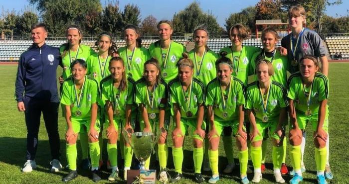Команда з Володимира-Волинського стала чемпіоном України з футболу серед дівочих команд