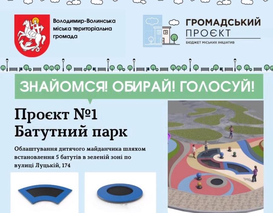У Володимирі-Волинському пропонують облаштувати батутний парк