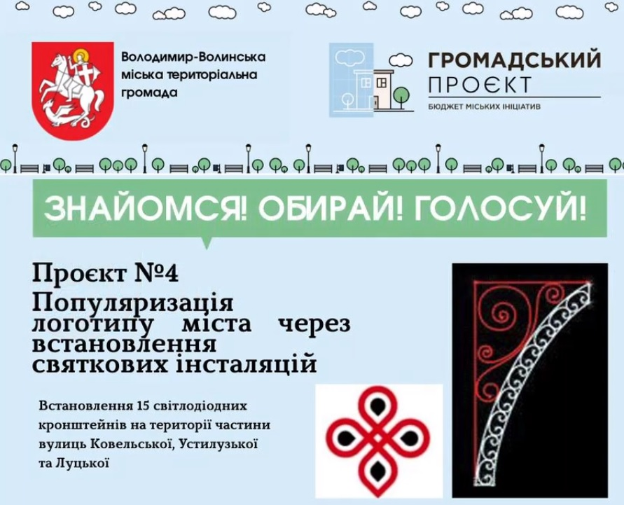У Володимирі-Волинському пропонують встановити 15 інсталяцій із логотипом міста