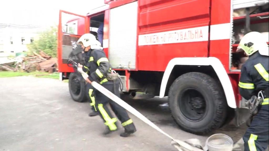 Володимир-волинські рятувальники ліквідували умовну пожежу на котельні