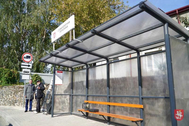 У Володимирі-Волинському презентували типову зупинку громадського транспорту