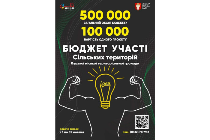 Розпочався конкурс проектів «Бюджет участі сільських і селищних територій Луцької громади»