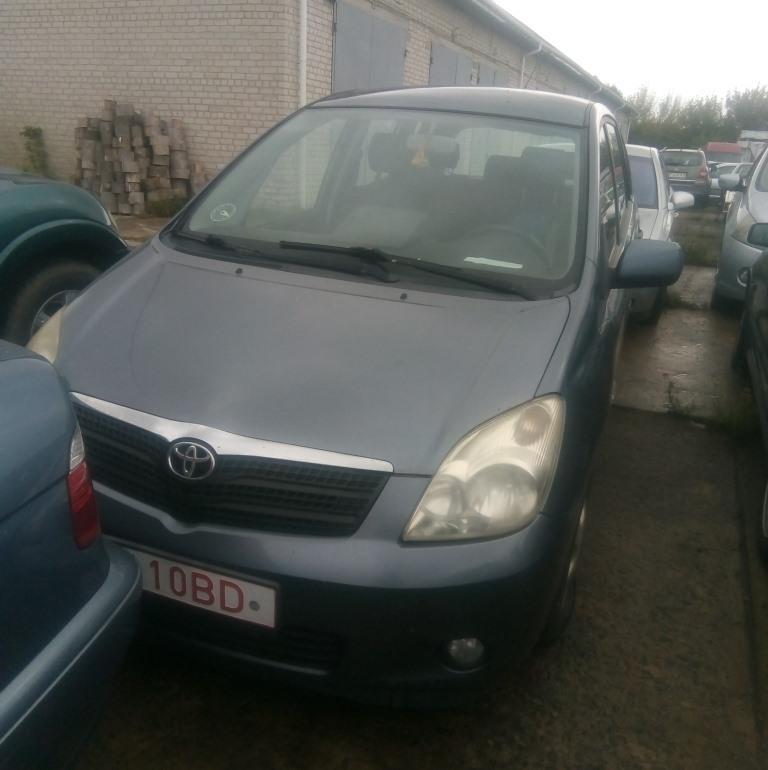 На Волині виставили на продаж з аукціону авто Toyota Corolla Verso